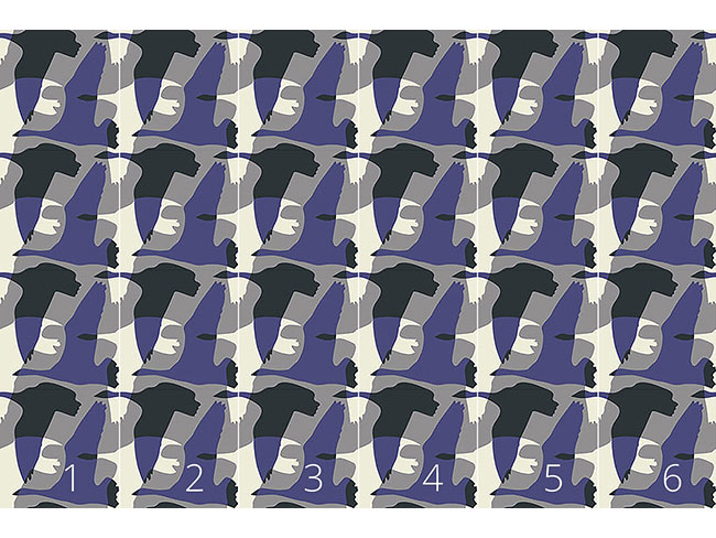 Designtapete Flying Goose Mute Purple