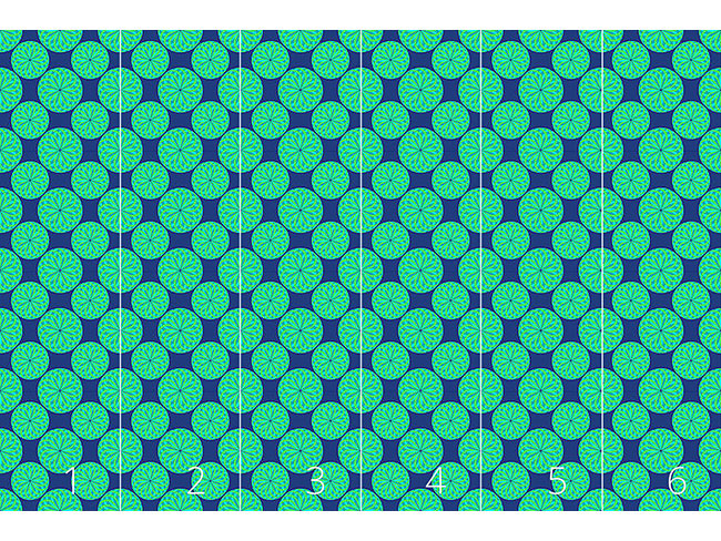 Designtapete Kleine Grüne Laternen