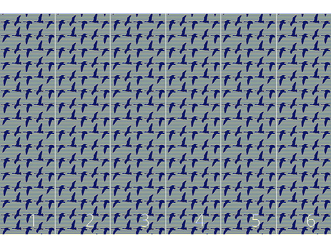 Designtapete Goose Blue