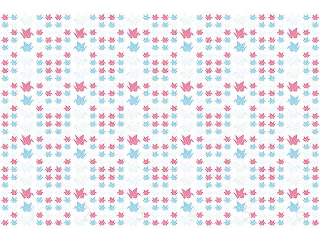 Designtapete Origami Kraniche