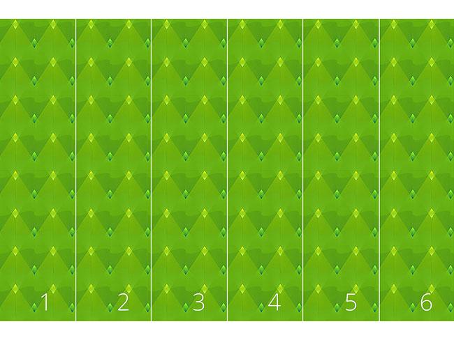 Designtapete Grüne Laternen