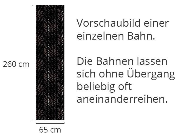 Designtapete Regentropfen Schwarz