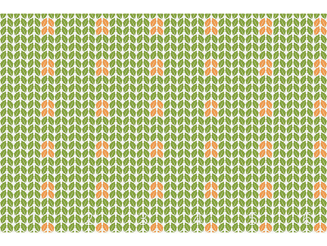 Designtapete Geordnete Blätter