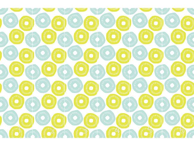 Designtapete Sonnenschein Blau und Gelb