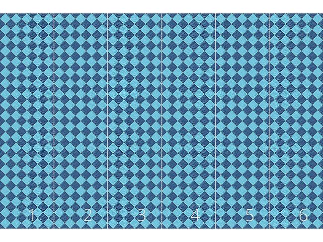 Designtapete Zebralike Blau