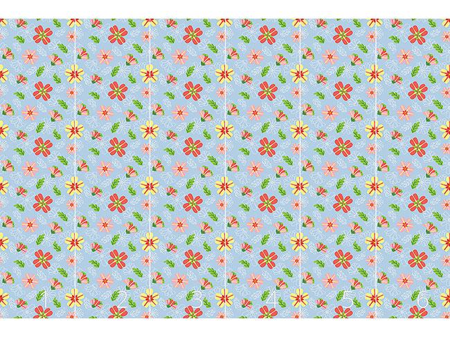 Designtapete Zuckerguss Blumen