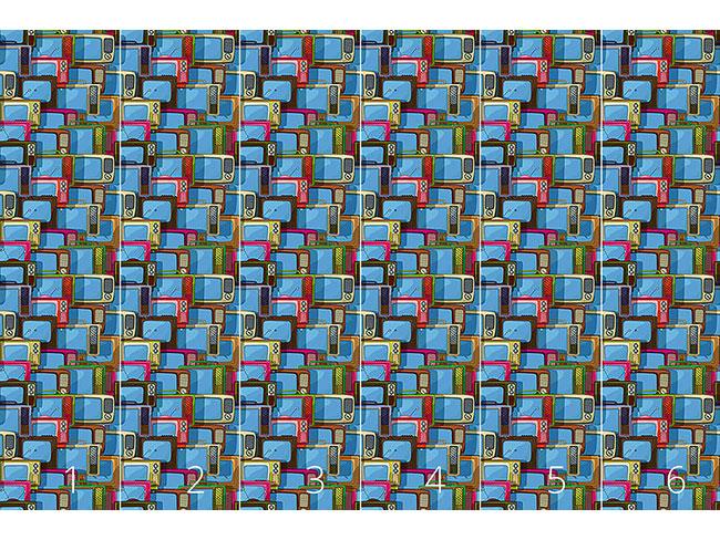 Designtapete Fernseher Collage