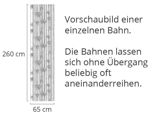Designtapete Bamboli Schwarz Weiss