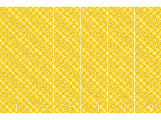 Designtapete Fantasie Schauplatz Gelb
