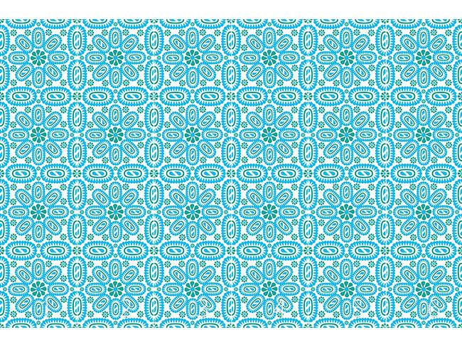 Designtapete Blaue Blätter