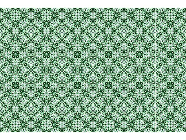 Designtapete Vierpass Grün