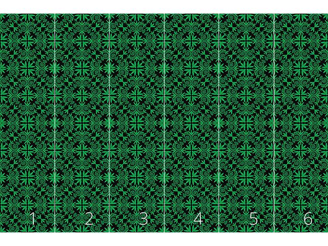 Designtapete Grünes Volk