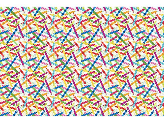 Designtapete Farbige Stifte