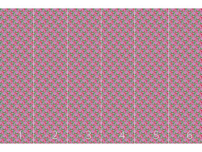 Designtapete Retro Hirsch Grün und Rot