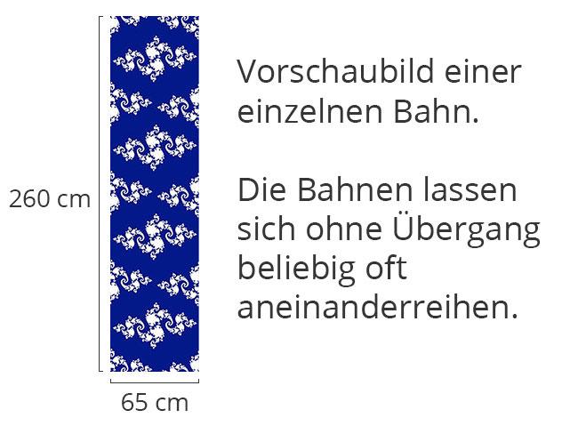 Designtapete Fraktale Schnörkel