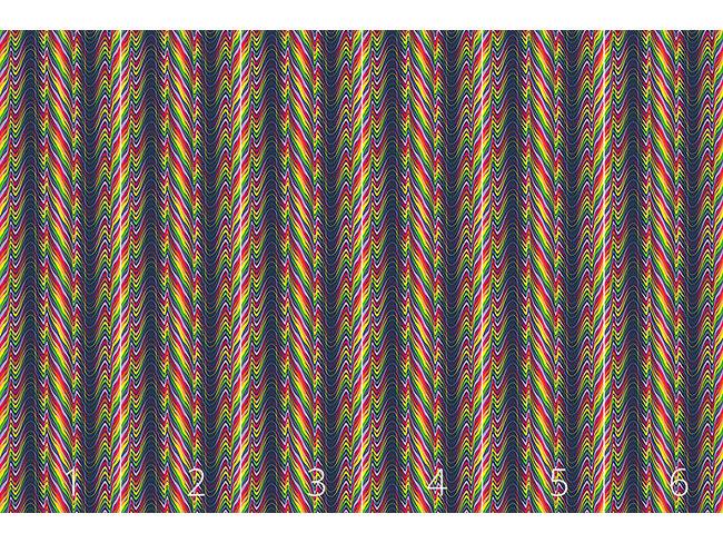 Designtapete Fluid Rainbow