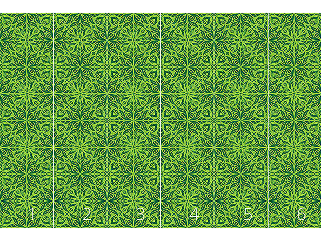 Designtapete Grüner Blütentraum