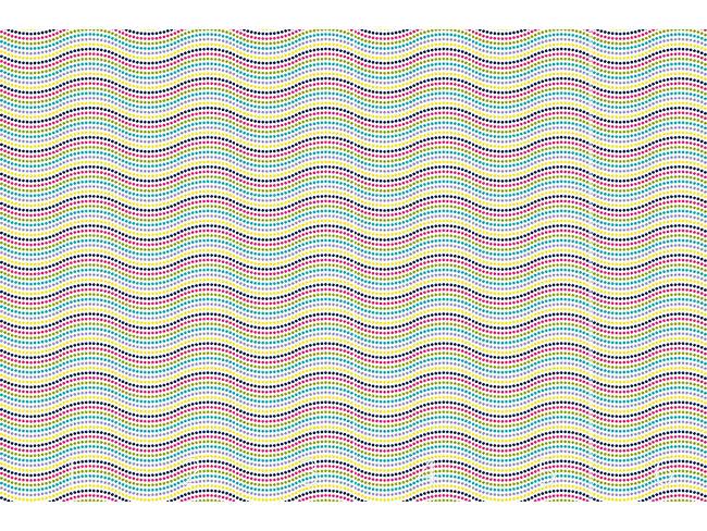 Designtapete Punktige Wellen