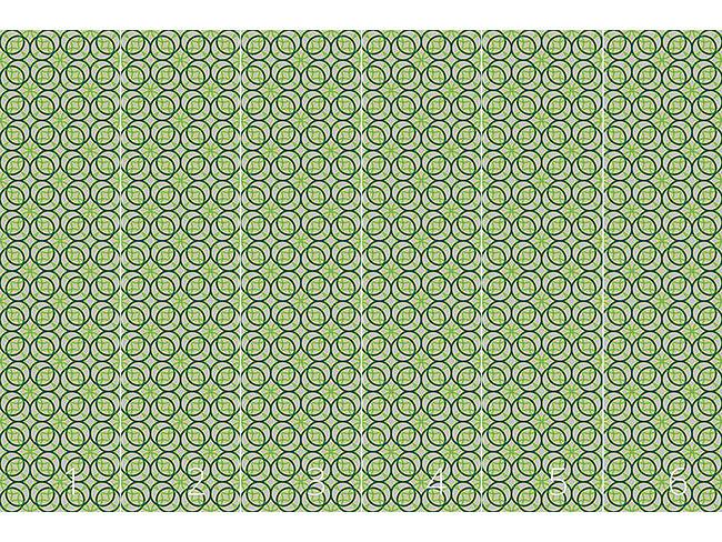 Designtapete Grüne Ringe