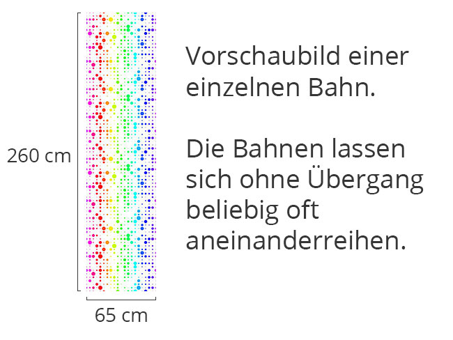 Designtapete Regenbogen Confetti Gitter