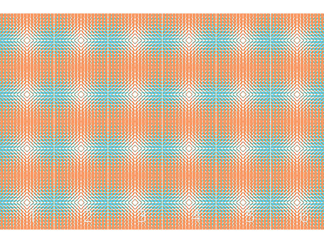 Designtapete Kaleidoskop Drei