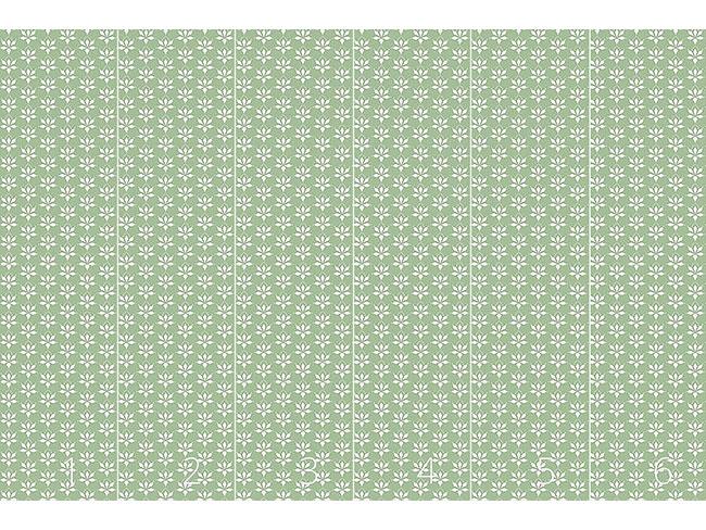 Designtapete Blossom Drops Grün