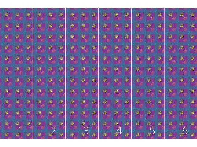 Designtapete Geometrisches Wellenspiel