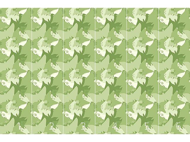Designtapete Die Reise Der Grünen Schmetterlinge