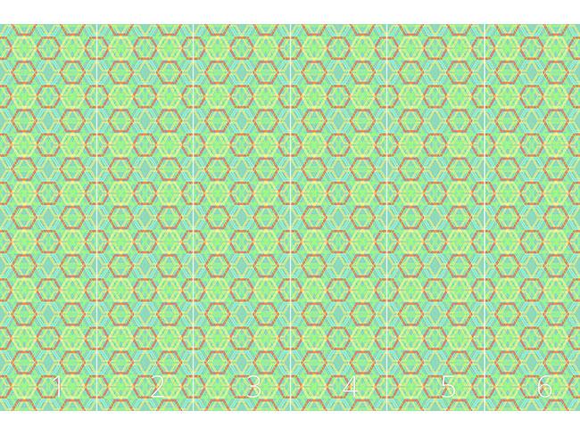 Designtapete Hexagonia Verde