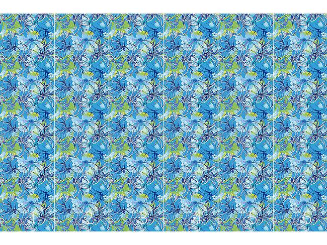 Designtapete Liliana In Blau