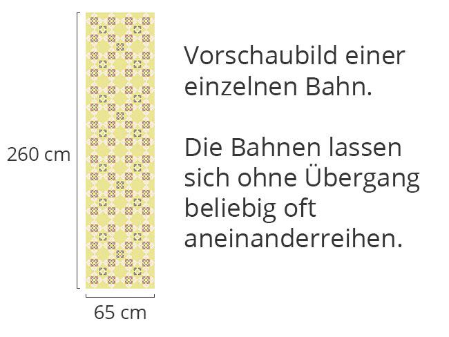 Designtapete Ines Liebt Blümchengelb