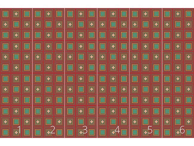 Designtapete Inka Zum Quadrat