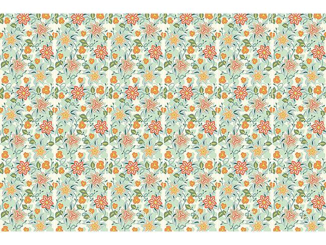 Designtapete Spätsommerliche Blumenromanze