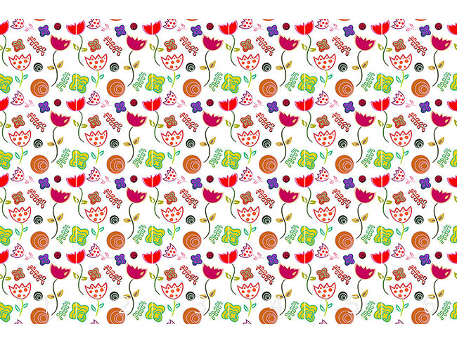 Designtapete Anny Flirtet Mit Blumen