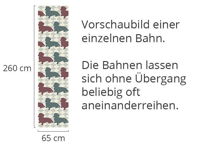 Designtapete Dackel Schachmatt