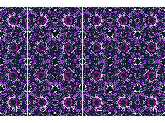 Designtapete Rondo Violett