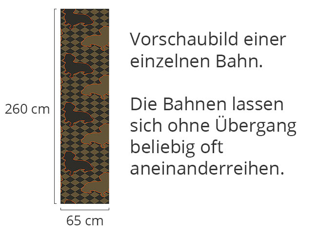 Designtapete Dackel Setzt Herrchen Schachmatt