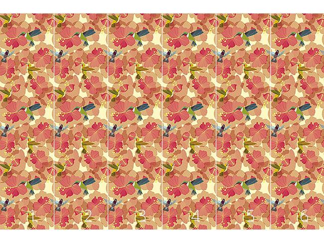 Designtapete Kolibri Hochzeit Im Hibiskus