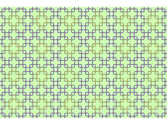 Designtapete Verbindung In Quadrat