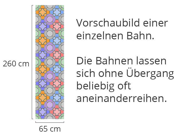 Designtapete Mosaik Floral