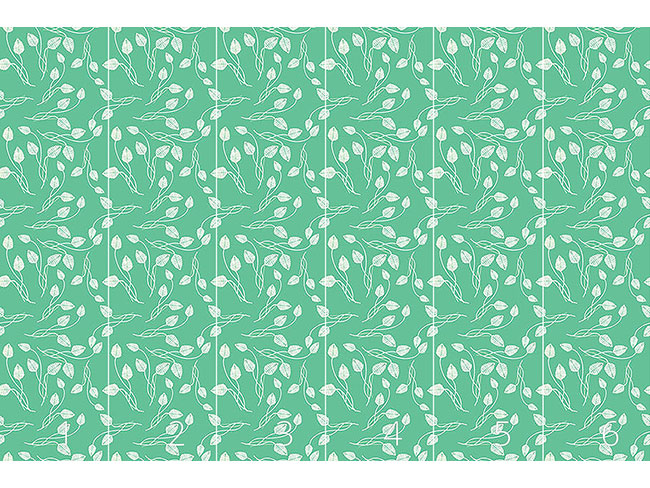 Designtapete Blättertanz Auf Mint