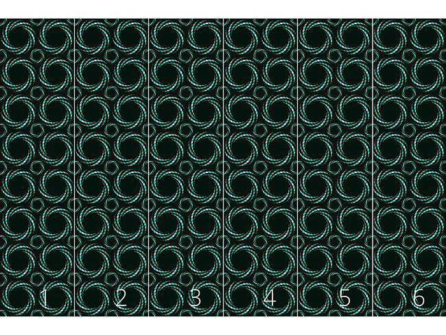 Designtapete Spiralmosaik