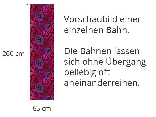 Designtapete Rosen Kreisrund