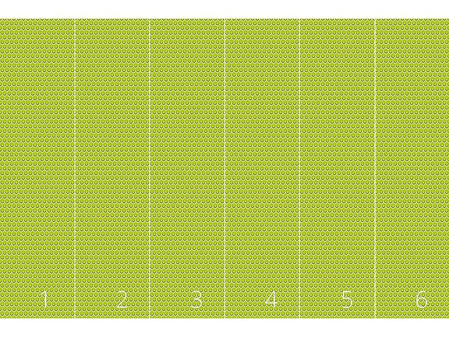 Designtapete Tropf Tropf Grasgrün