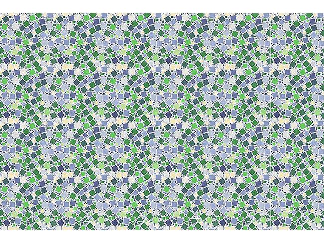 Designtapete Purzelnde Mosaik Quadrate