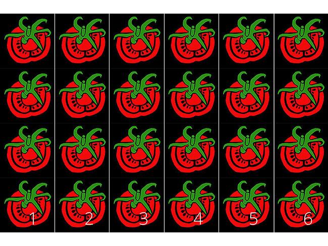Designtapete Rote Tomate