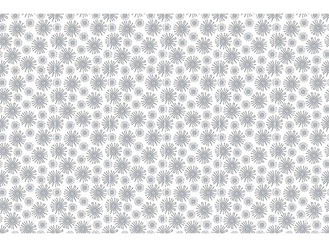 Designtapete Monochrome Sternblumen