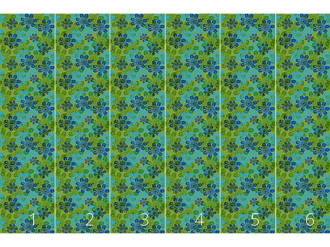 Designtapete Blumen Stempel