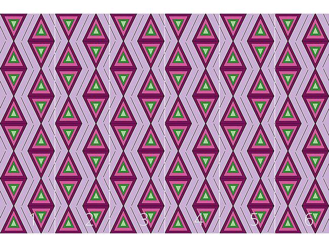 Designtapete Die Farben Des Dreiecks