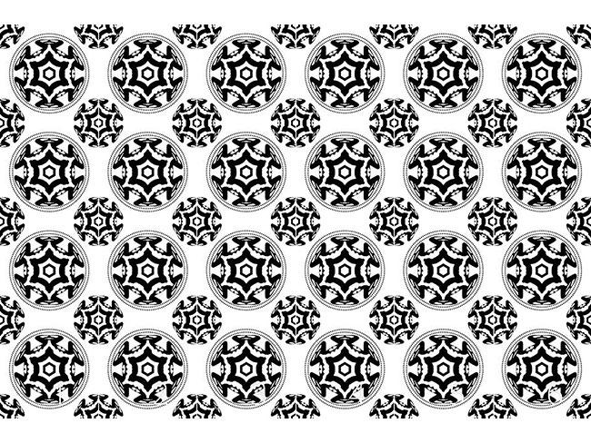 Designtapete Im Kreis Des Schwarzen Sterns